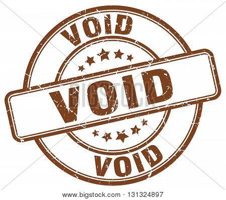 Void Brown Grunge Round Vintage Rubber Stamp.void Stamp.void Round Stamp.void Grunge Stamp.void.void