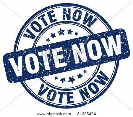 Vote Now Blue Grunge Round Vintage Rubber Stamp.vote Now Stamp.vote Now Round Stamp.vote Now Grunge