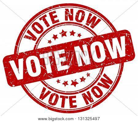 Vote Now Red Grunge Round Vintage Rubber Stamp.vote Now Stamp.vote Now Round Stamp.vote Now Grunge S