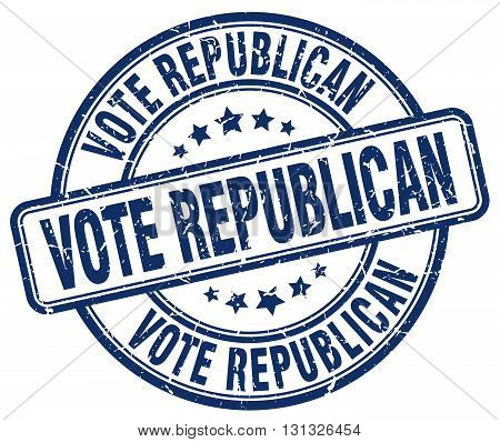 Vote Republican Blue Grunge Round Vintage Rubber Stamp.vote Republican Stamp.vote Republican Round S