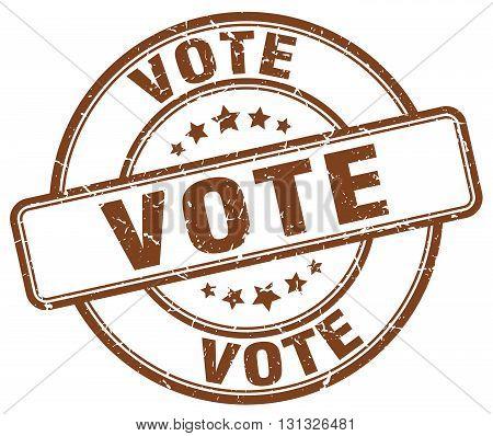 Vote Brown Grunge Round Vintage Rubber Stamp.vote Stamp.vote Round Stamp.vote Grunge Stamp.vote.vote