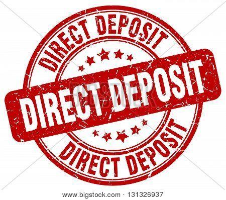 direct deposit red grunge round vintage rubber stamp.direct deposit stamp.direct deposit round stamp.direct deposit grunge stamp.direct deposit.direct deposit vintage stamp.