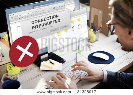 Attention Alert Connection Interrupted Warning Concept
