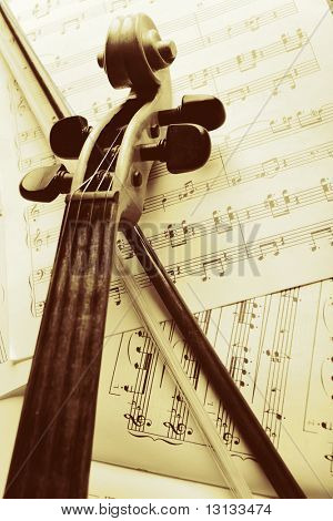 Musical background � instruments. Shot in studio.