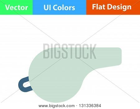 Whistle icon. Flat design ui colors.. Vector illustration.