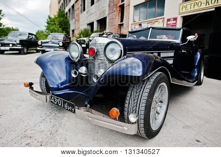 Podol, Ukraine - May 19, 2016: Mercedes-benz 540K (w24), Luxury Retro Classic Car, Which Was Fabrica