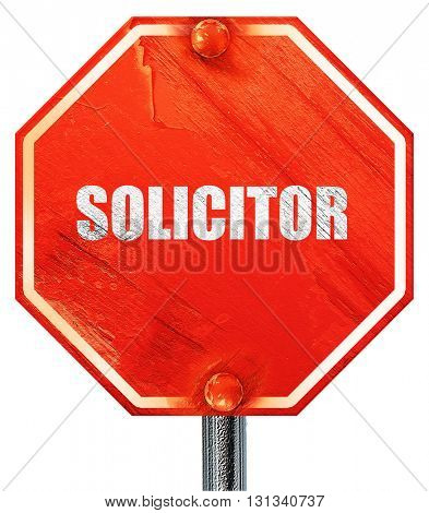 solicitor, 3D rendering, a red stop sign
