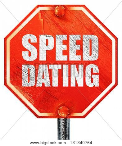 speed dating, 3D rendering, a red stop sign