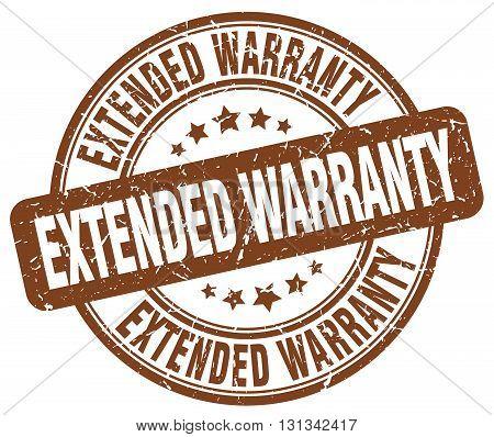extended warranty brown grunge round vintage rubber stamp.extended warranty stamp.extended warranty round stamp.extended warranty grunge stamp.extended warranty.extended warranty vintage stamp.