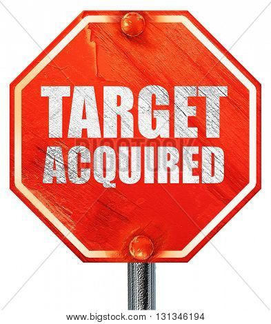 target acquired, 3D rendering, a red stop sign