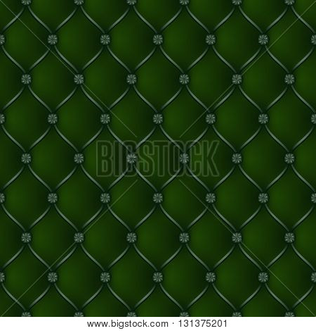 Vector abstract upholstery dark green background. Can be used in cover design book design website background CD cover advertising