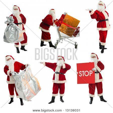 Weihnachten Hintergrund: Weihnachtsmann, Geschenke,