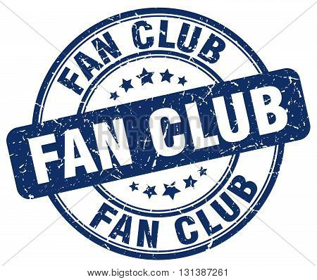 fan club blue grunge round vintage rubber stamp.fan club stamp.fan club round stamp.fan club grunge stamp.fan club.fan club vintage stamp.