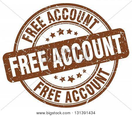 free account brown grunge round vintage rubber stamp.free account stamp.free account round stamp.free account grunge stamp.free account.free account vintage stamp.