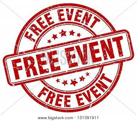 free event red grunge round vintage rubber stamp.free event stamp.free event round stamp.free event grunge stamp.free event.free event vintage stamp.