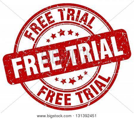 free trial red grunge round vintage rubber stamp.free trial stamp.free trial round stamp.free trial grunge stamp.free trial.free trial vintage stamp.