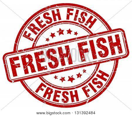fresh fish red grunge round vintage rubber stamp.fresh fish stamp.fresh fish round stamp.fresh fish grunge stamp.fresh fish.fresh fish vintage stamp.