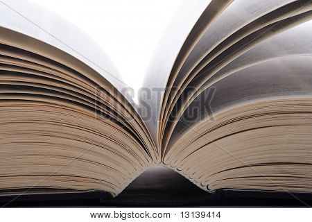 Open book.Isolated on white.