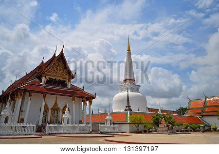 Wat Phra Mahathat Woramahawihanthe main temple in Nakhon Si Thammara provinceSouthern Thailand.