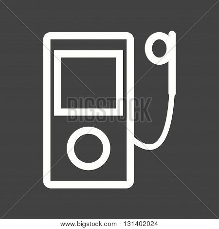 Mp3, player, ipod icon vector image. Can also be used for music. Suitable for mobile apps, web apps and print media.