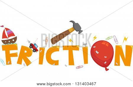 Typography Illustration Featuring the Word Friction