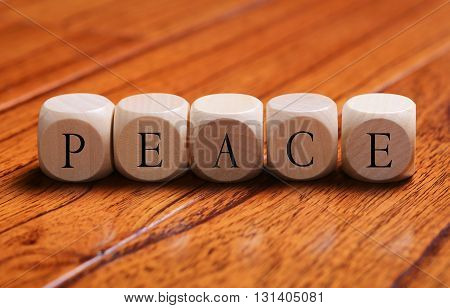 Peace Word Concept