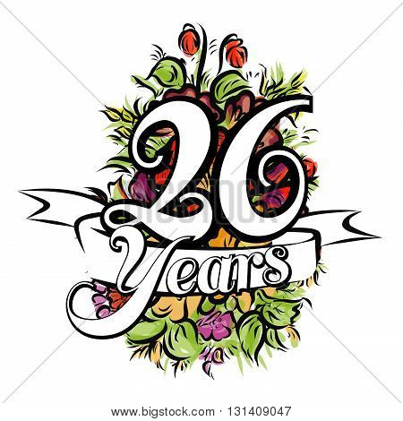 26 Years Greeting Card Design