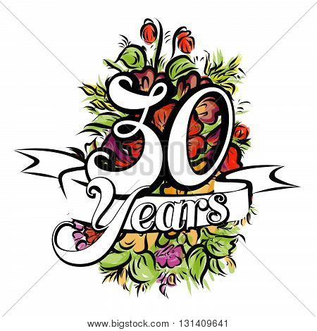 30 Years Greeting Card Design