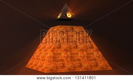 All Seeing Eye Of God , The Eye Of Providence Pyramid Illuminati Symbol