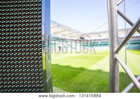 Led screen on big stadium before an event