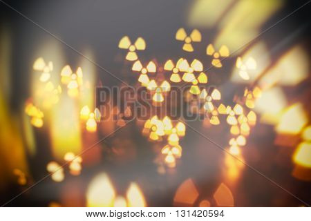 particles radiation nuclear abstract blur background over darkness