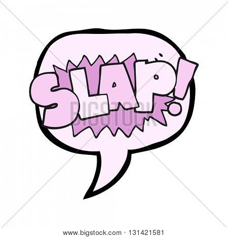 freehand drawn speech bubble cartoon slap symbol
