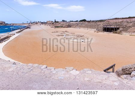 Fragment Of The Hippodrome In The Ruined City Of Caesarea