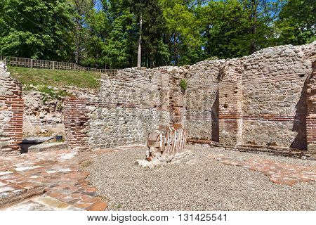 inside view of The ancient Thermal Baths of Diocletianopolis, town of Hisarya, Plovdiv Region, Bulgaria