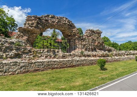 Remanings of the fortifications of the ancient Roman city of Diocletianopolis, town of Hisarya, Plovdiv Region, Bulgaria