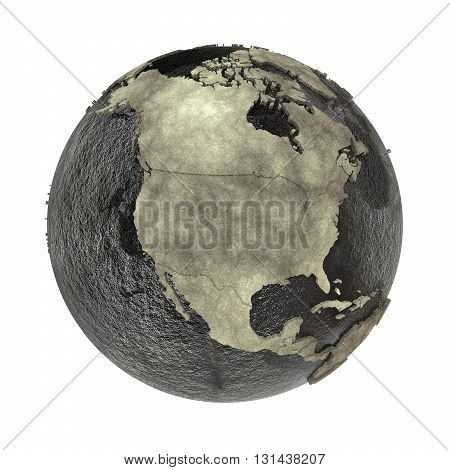 North America On Earth Of Oil
