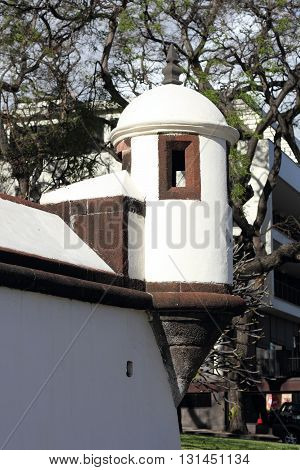 Corner tower at the Saint Lawrence Fort in Funchal on Madeira