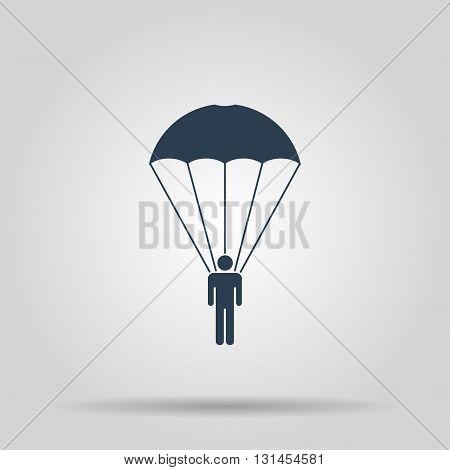 Parachute jumper. Vector concept illustration for design.