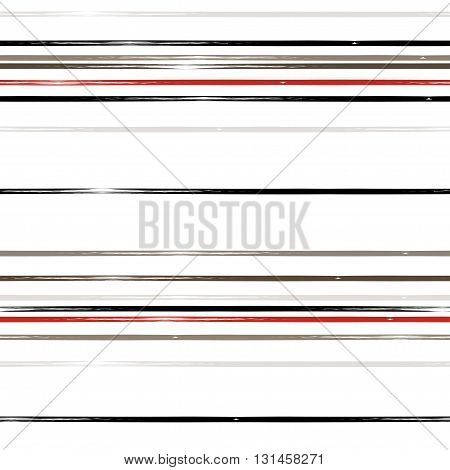 Cute Vector Geometric Seamless Pattern. Brush Strokes. Hand Drawn Grunge Texture. Abstract Forms. En