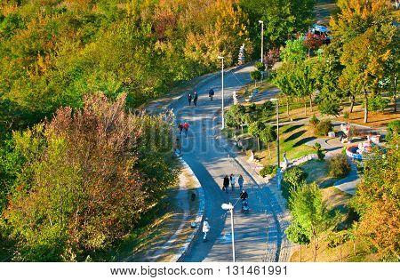 Famous Landscape Alley. Kiev, Ukraine