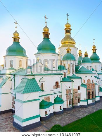 St. Sophia Cathedral At Sunset. Ukraine