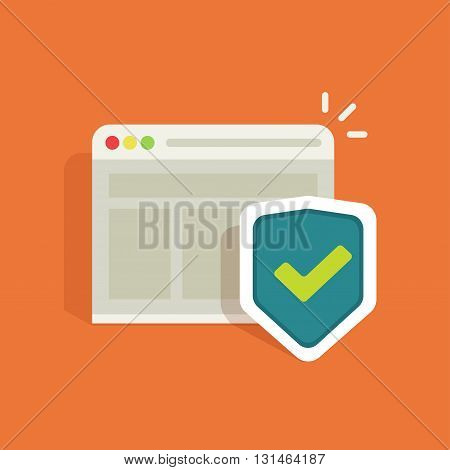 Internet protection symbol, data protection shield logo, information security flat icon, antivirus emblem, protected connection sign, online security concept, vector illustration design isolated