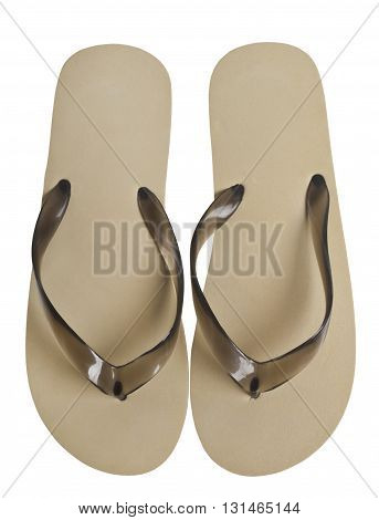A pair of flip-flops isolated on a white background