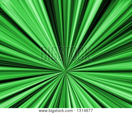 abstract composition with green rays illustration background poster