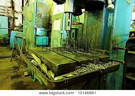 An industrial background. Workshop, machine, mechanism.