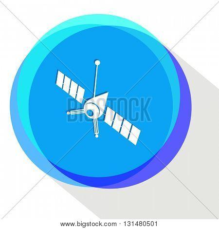 spaceship. Internet template. Vector icon.