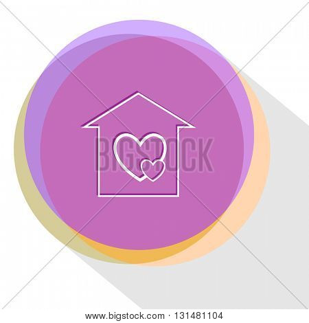 orphanage. Internet template. Vector icon.