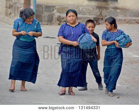 SANTA CATARINA PALOPO DE ATITLAN GUATEMALA NAY 01 2016: Portrait of a Mayan woman. The Mayan people still make up a majority of the population in Guatemala.