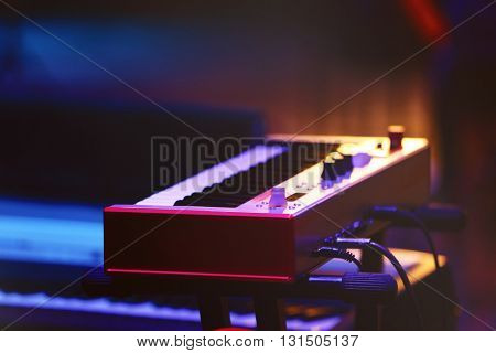 Synthesizer at the stage
