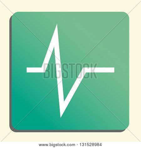 Pulse Icon In Vector Format. Premium Quality Pulse Symbol. Web Graphic Pulse Sign On Green Light Bac